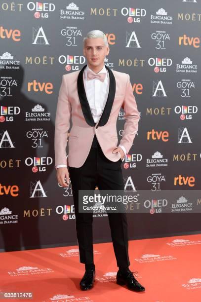 Eduardo Casanova attends Goya Cinema Awards 2017 at Madrid Marriott Auditorium on February 4 2017 in Madrid Spain