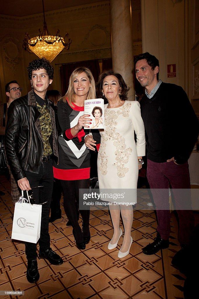 Eduardo Casanova, Lujan Arguelles, Carmen Navarro and Paco Leon attend new book 'Belleza Inteligente' presentation at Casino de Madrid on January 16, 2013 in Madrid, Spain.