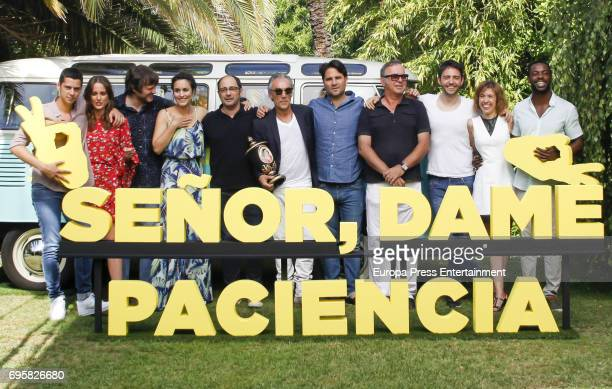 Eduardo Casanova Silvia Alonso Salva Reina Megan Montaner Jordi Sanchez Bore Buika and David Guapo attend 'Senor dame paciencia' photocall on June 13...