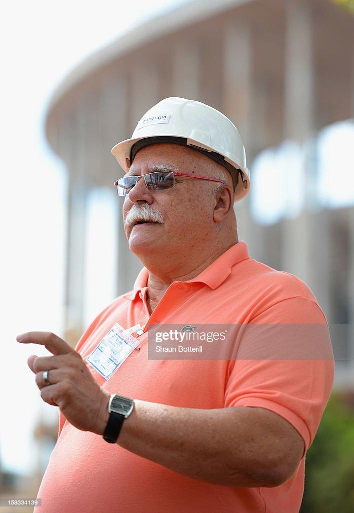 Eduardo de Castro Mello architect of the National Stadium of Brasilia venue for the 2014 FIFA World Cup on December 13, 2012 in Brasilia, Brazil.