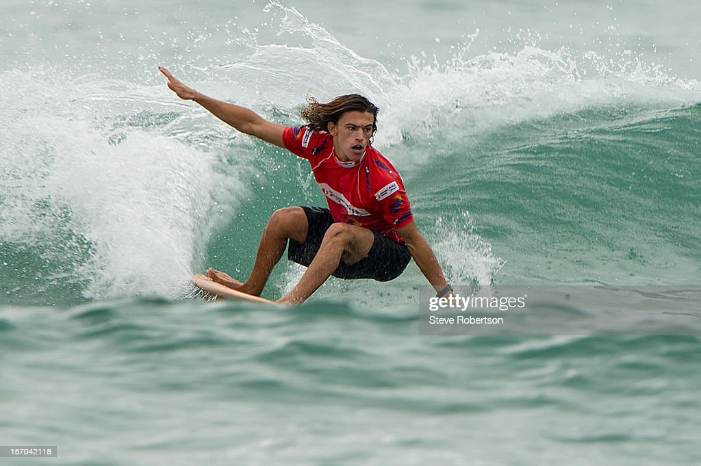 Eduardo Delpero of France wins his round 3 heat during the CITIC PACIFIC Shenzhou Peninsula Pro on November 28, 2012 in Hainan Island, China.