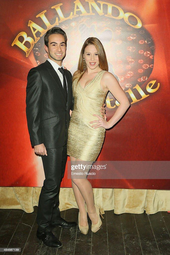 Eduardo Deodato and Sara Santostasi attend the 'Ballando con le stelle' 100th Episode Party at La Villa on December 9, 2013 in Rome, Italy.