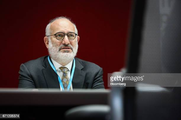 Eduardo Elsztain founder and chief executive officer of Irsa Inversiones Y Representaciones SA listens during an interview in New York US on Friday...