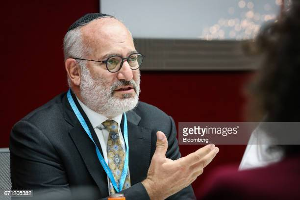Eduardo Elsztain founder and chief executive officer of Irsa Inversiones Y Representaciones SA speaks during an interview in New York US on Friday...
