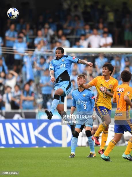 Eduardo Neto of Kawasaki Frontale in action during the JLeague Levain Cup semi final second leg match between Kawasaki Frontale and Vegalta Sendai at...