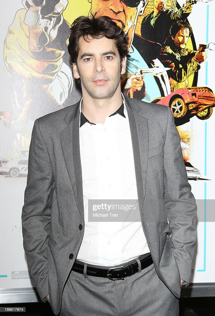 <a gi-track='captionPersonalityLinkClicked' href=/galleries/search?phrase=Eduardo+Noriega&family=editorial&specificpeople=790357 ng-click='$event.stopPropagation()'>Eduardo Noriega</a> arrives at the Los Angeles premiere of 'The Last Stand' held at Grauman's Chinese Theatre on January 14, 2013 in Hollywood, California.