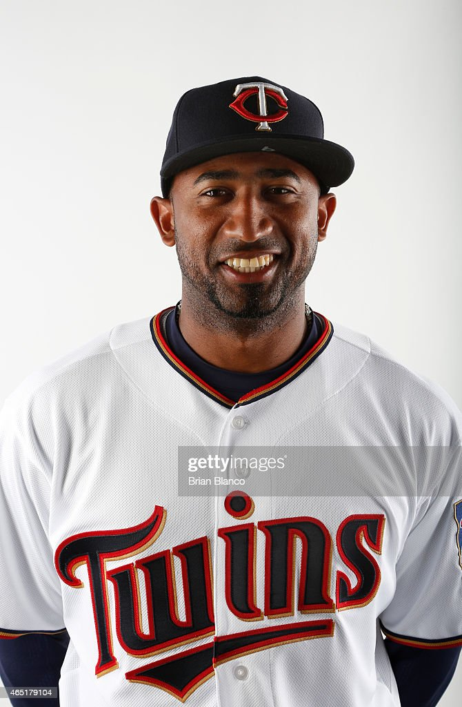 <a gi-track='captionPersonalityLinkClicked' href=/galleries/search?phrase=Eduardo+Nunez&family=editorial&specificpeople=4900197 ng-click='$event.stopPropagation()'>Eduardo Nunez</a> #9 of the Minnesota Twins poses for a photo on March 3, 2015 at Hammond Stadium in Fort Myers, Florida.