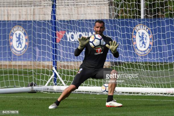 Eduardo of Chelsea during a training session at Chelsea Training Ground on September 4 2017 in Cobham England