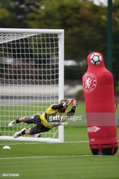 Eduardo of Chelsea during a training session at Chelsea Training Ground on September 8 2017 in Cobham England