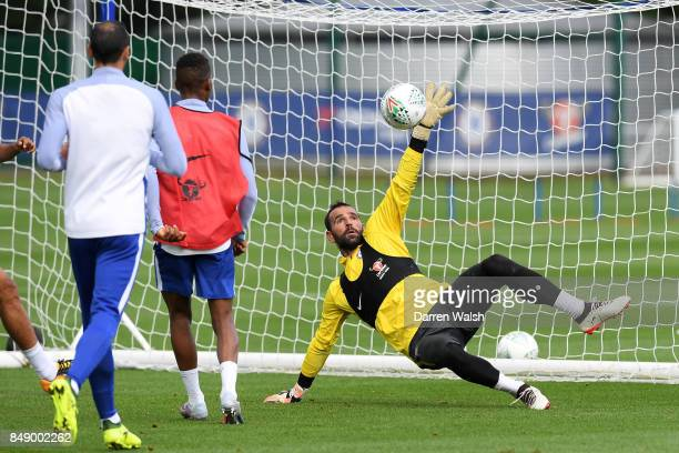 Eduardo of Chelsea during a training session at Chelsea Training Ground on September 18 2017 in Cobham England