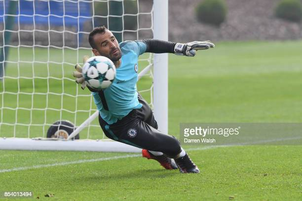 Eduardo of Chelsea during a training session at Chelsea Training Ground on September 26 2017 in Cobham England