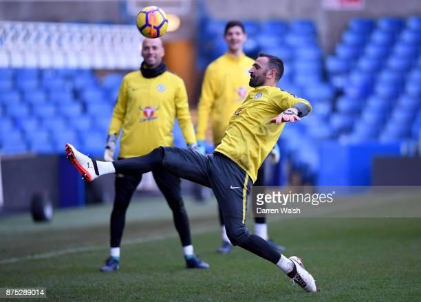 Eduardo of Chelsea during a training session at Stamford Bridge on November 17 2017 in London England