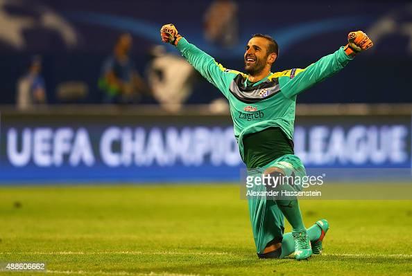 Eduardo of Dinamo Zagreb celebrates after the UEFA Champions League Group F match between Dinamo Zagreb and Arsenal at Maksimir Stadium on September...