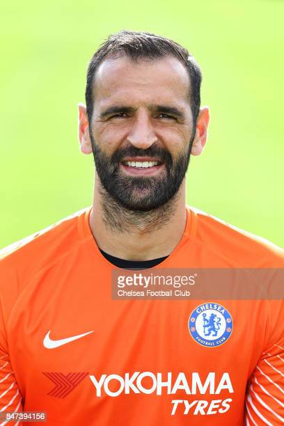 Eduardo poses for a photo at Chelsea Training Ground on September 15 2017 in Cobham England