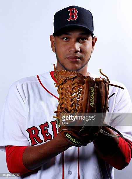 Eduardo Rodriguez of the Boston Red Sox poses for a portrait on March 1 2015 at JetBlue Park in Fort Myers Florida