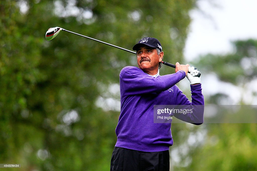 <a gi-track='captionPersonalityLinkClicked' href=/galleries/search?phrase=Eduardo+Romero&family=editorial&specificpeople=207196 ng-click='$event.stopPropagation()'>Eduardo Romero</a> drives from the 15th tee during the first round of the Travis Perkins Masters played at the Duke's Course, Woburn Golf Club on August 29, 2014 in Woburn, United Kingdom.