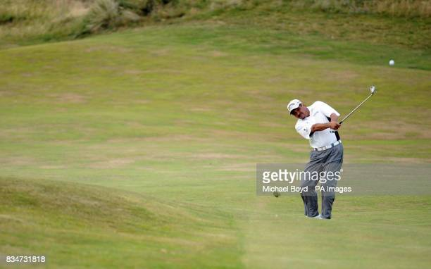 Eduardo Romero during the Britsih Seniors Open Royal Troon Golf Club Ayrshire