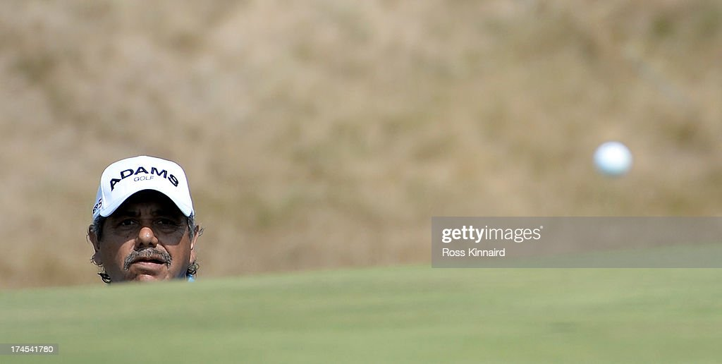 <a gi-track='captionPersonalityLinkClicked' href=/galleries/search?phrase=Eduardo+Romero&family=editorial&specificpeople=207196 ng-click='$event.stopPropagation()'>Eduardo Romero</a> of Argentina during the third round of The Senior Open Championship at Royal Birkdale on July 27, 2013 in Southport, England.