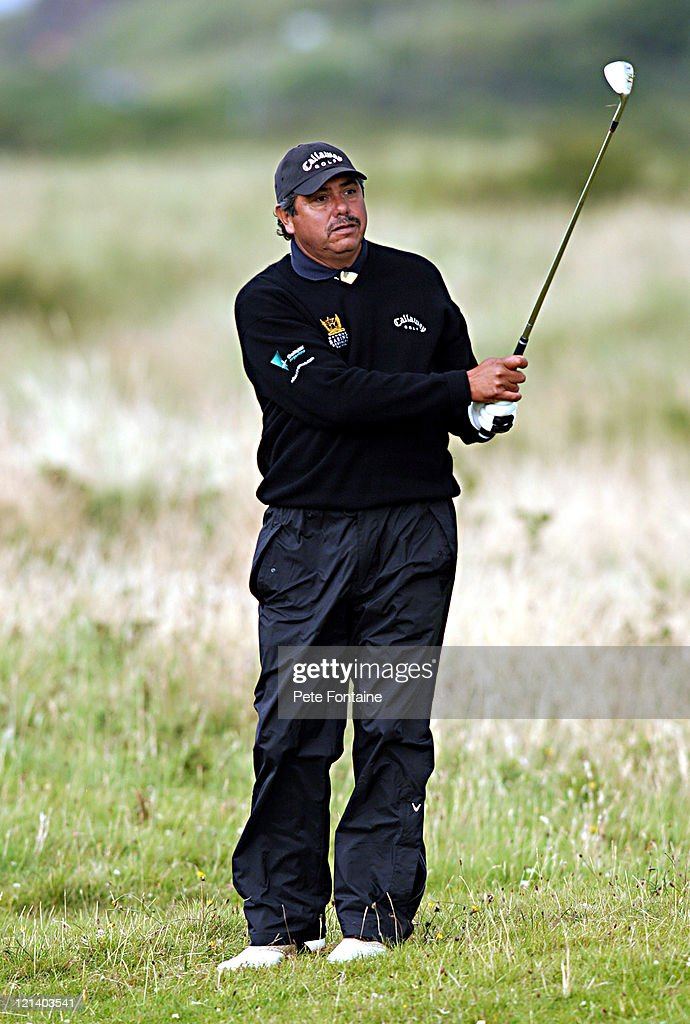 <a gi-track='captionPersonalityLinkClicked' href=/galleries/search?phrase=Eduardo+Romero&family=editorial&specificpeople=207196 ng-click='$event.stopPropagation()'>Eduardo Romero</a> watches his approach shot to the green during the second round of the Senior British Open at the Royal Portrush Golf Club, July 23, 2004.
