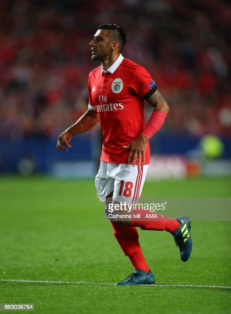 Eduardo Salvio of Benfica during the UEFA Champions League group A match between SL Benfica and Manchester United at Estadio da Luz on October 18...