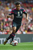 Eduardo Salvio of Benfica in action during the Emirates Cup match between Benfica and Valencia at the Emirates Stadium on August 3 2014 in London...