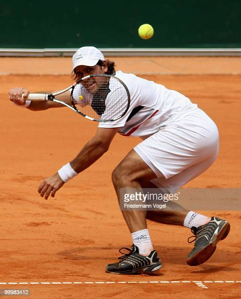 Eduardo Schwank of Argentina in action during his match against Andreas Beck of Germany during day four of the ARAG World Team Cup at the Rochusclub...