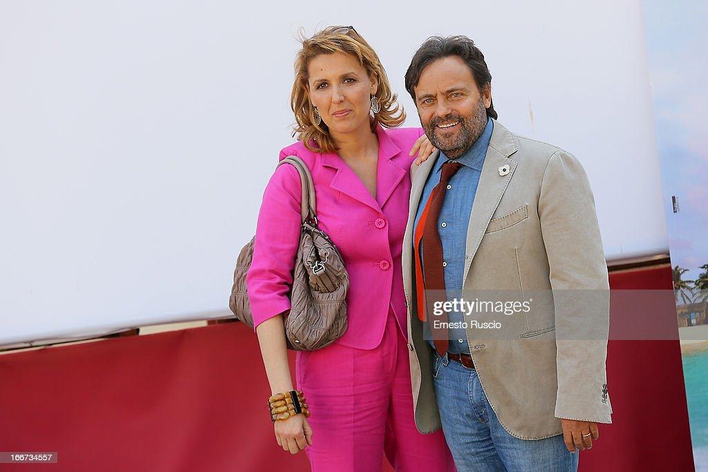 Eduardo Tartaglia and Veronica Mazza attend the 'Sono Un Pirata, Sono Un Signore' photocall at Cinema Barberini on April 16, 2013 in Rome, Italy.