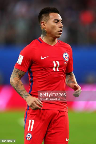 Eduardo Vargas of Chile looks on during the FIFA Confederations Cup Russia 2017 Final match between Chile and Germany at Saint Petersburg Stadium on...
