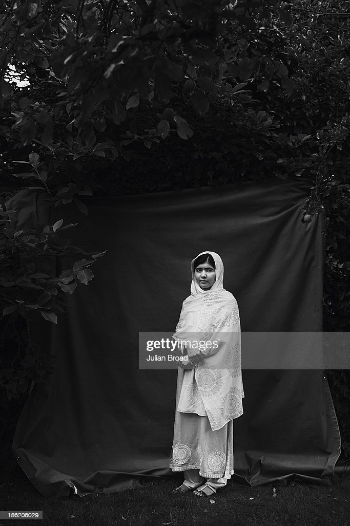 Education activist <a gi-track='captionPersonalityLinkClicked' href=/galleries/search?phrase=Malala+Yousafzai&family=editorial&specificpeople=5849423 ng-click='$event.stopPropagation()'>Malala Yousafzai</a> is photographed for People magazine on August 30, 2013 in Birmingham, England.