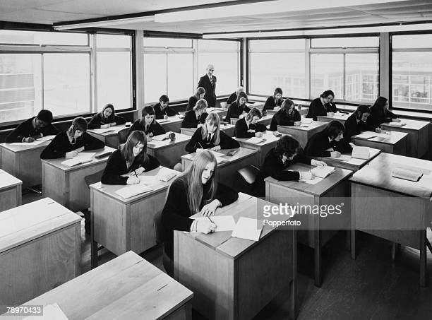 Modern White Classroom ~ Secondary modern school stock photos and pictures getty