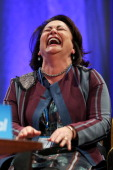 Education Minister Hekia Parata enjoys a laugh during the National Party Annual Conference at Michael Fowler Centre on June 28 2014 in Wellington New...