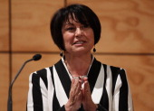 Education Minister Hekia Parata speaks at the New Zealand Secondary School's Principals Association Conference at the University of Waikato on June...