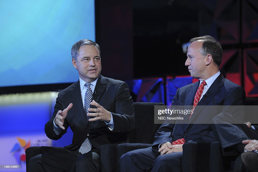NBC NEWS -- Education Nation, New York Summit -- Pictured: (l-r) Sean Parnell, Governor of Alaska and Jack Markell Governor of Delaware, during 'The State of Education: The Governors' Perspective' sessionat NBC News' Education Nation Summit in New York on Monday, September 26, 2011