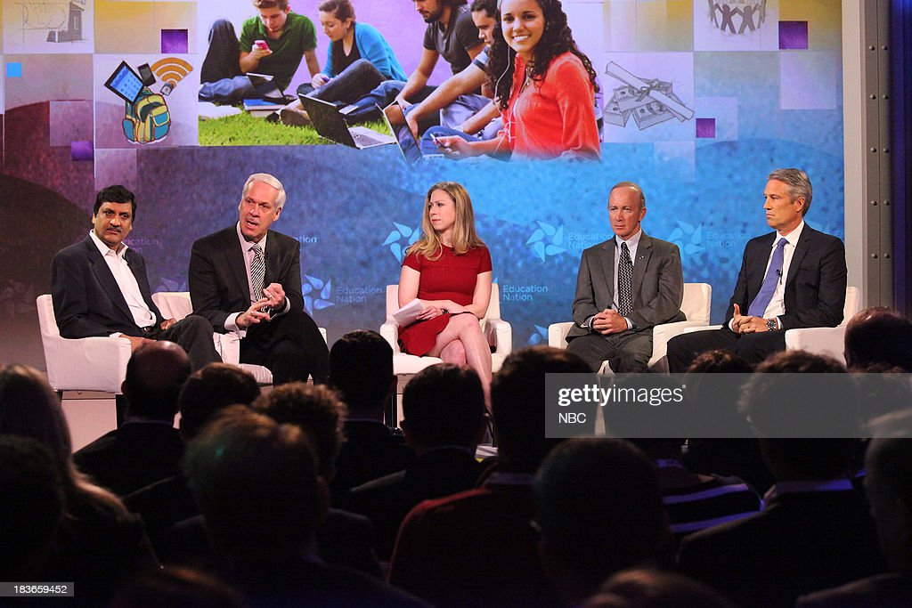 Anant Agarwal, President of edX, Dr. Paul J. LeBlanc, President of Southern New Hampshire University, Chelsea Clinton, Special Correspondent for NBC News, Mitch Daniels, President of Purdue University, IN, and Rob Wrubel, Chief Innovation Officer and Executive Vice President for Apollo Group, Inc. --