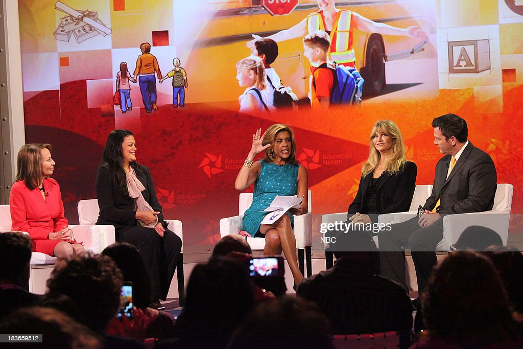 Dr. Pamela Cantor, Founder, President, and CEO of Turnaround for Children, Inc., Dr. Meria Joel Carstarphen, Superintendent of the Austin Independent School District, TX, Hoda Kotb, co-host of NBC News' 'TODAY,' Goldie Hawn, actress and founder of the Hawn Foundation, and Dr. Peter DeWitt, principal of Poestenkill Elementary School in Poestenkill, NY. --