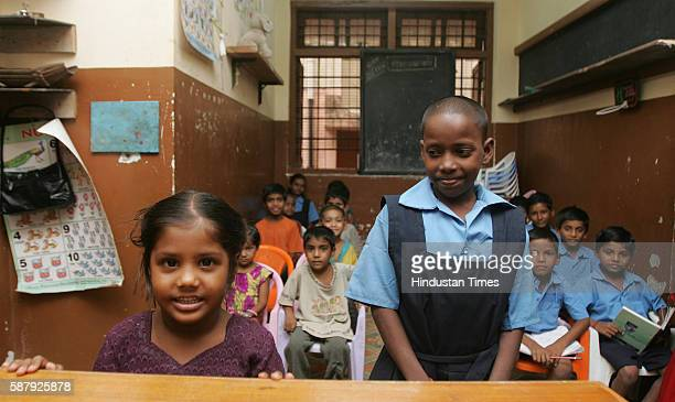 Education Rani Chavan with a 75% to her credit is one of the class toppers at the School for Beggar Children in Municipal School in Khar Danda...