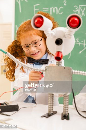 Education:  Retro revival scientist in lab.  Electronics. : Stock Photo