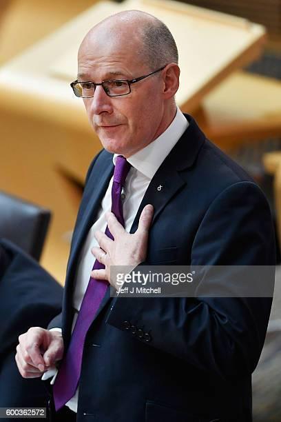 Education Secretary John Swinney gives the Scottish Parliament an update on the SNP named persons scheme on September 8 2016 in Edinburgh Scotland Mr...