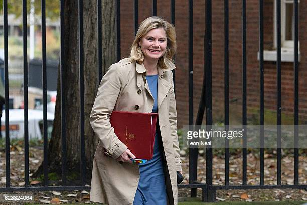 Education Secretary Justine Greening walks to number 10 Downing Street ahead of a Cabinet meeting on November 15 2016 in London England The...