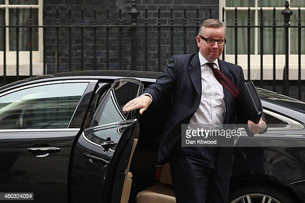 Education Secretary Michael Gove arrives at 10 Downing Street on June 9 2014 in London England The Education Secretary Michael Gove and and Home...