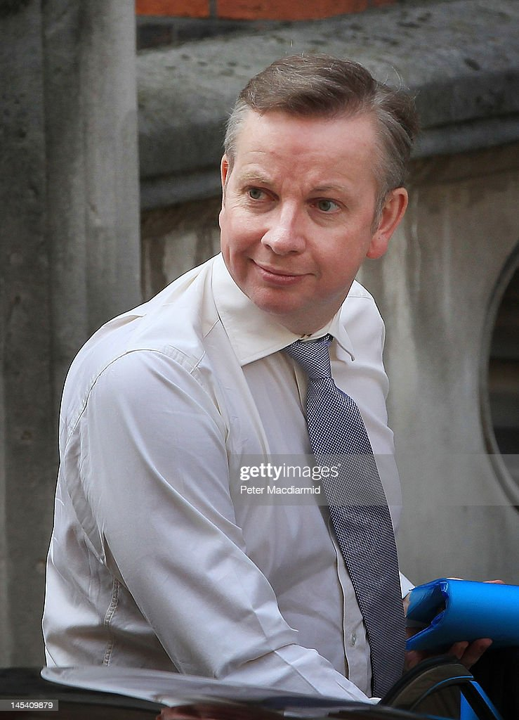 Education Secretary Michael Gove arrives at The Royal Courts of Justice to give evidence to The Leveson Inquiry on May 29 2012 in London England This...