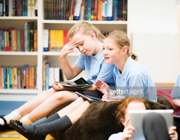 Education UK Primary school children using technology