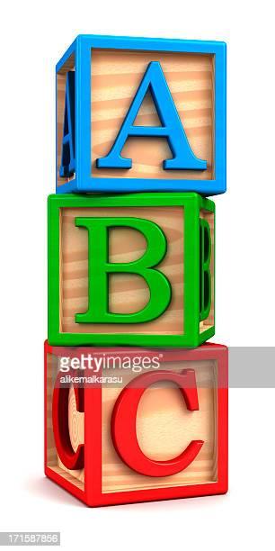 education wooden blocks