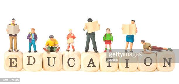 education word abstract with people