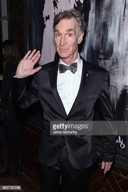Educator Bill Nye attends the After Party for A Screening of 'The Space Between Us' hosted by the Cinema Society at The Jimmy at the James Hotel on...