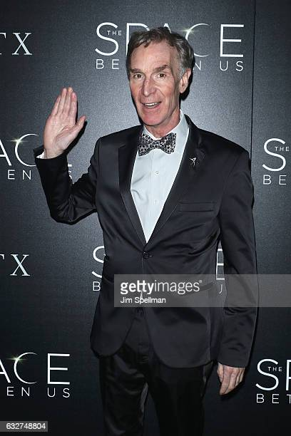 Educator Bill Nye attends the screening of 'The Space Between Us' hosted by STX Entertainment with The Cinema Society at Landmark's Sunshine Cinema...