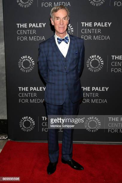Educator television presenter and mechanical engineer Bill Nye attends The Paley Center For Media Presents 'Bill Nye Saves The World' Screening And...