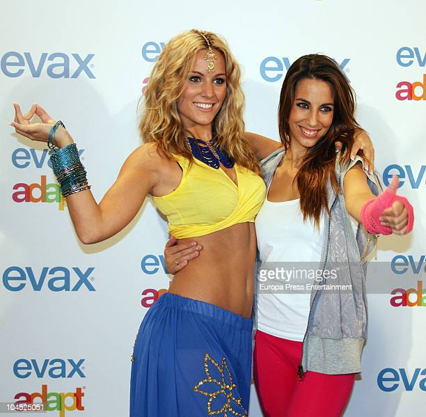 Edurne and Almudena Cid attend the 'Evax Adapt' contestant on September 28 2010 in Madrid Spain