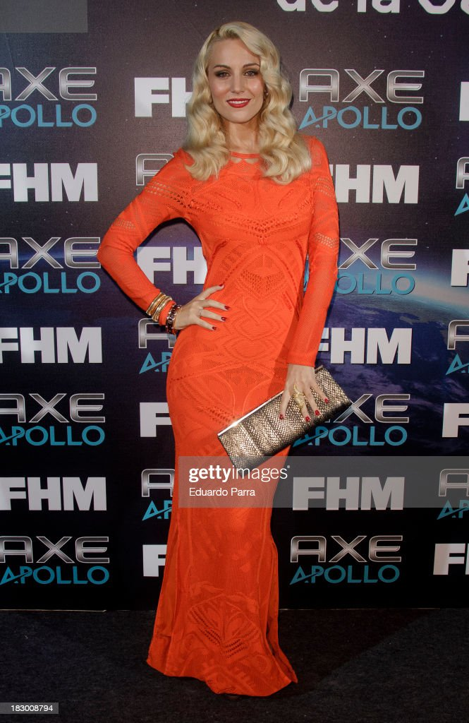 <a gi-track='captionPersonalityLinkClicked' href=/galleries/search?phrase=Edurne&family=editorial&specificpeople=649428 ng-click='$event.stopPropagation()'>Edurne</a> attends '100 sexiest women in the world' party photocall at OUI Madrid on October 3, 2013 in Madrid, Spain.