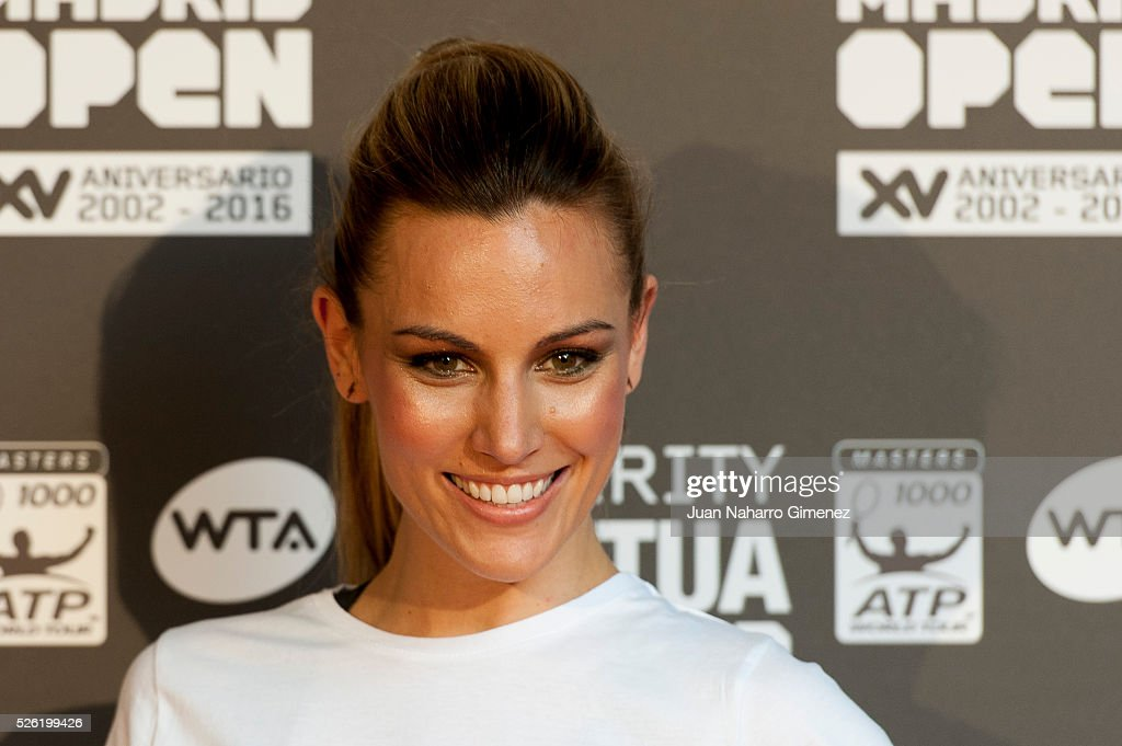 Edurne attends Charity day tournament during Mutua Madrid Open at Caja magica on April 29, 2016 in Madrid, Spain.